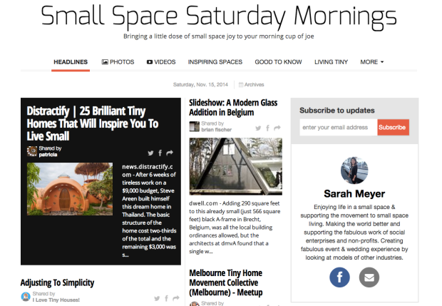 Small Space Saturday Morning